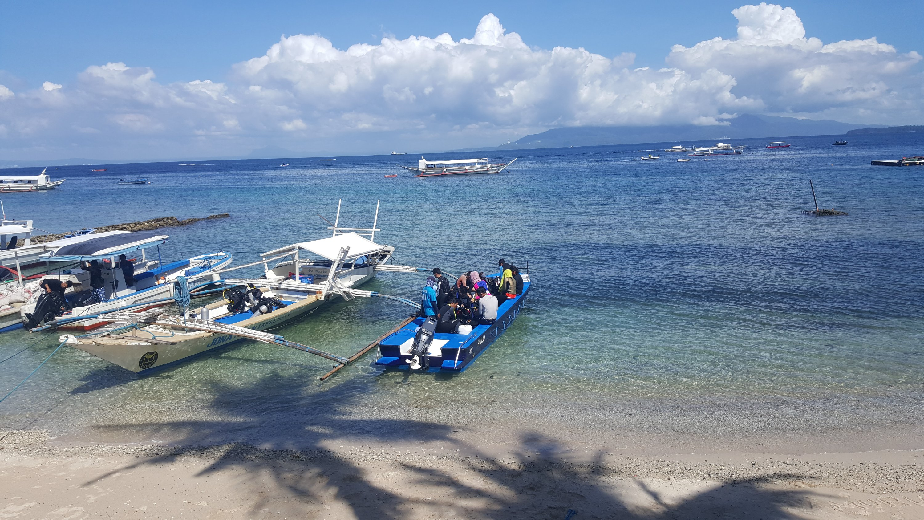 That is the boat that will pick us up when we are done diving.