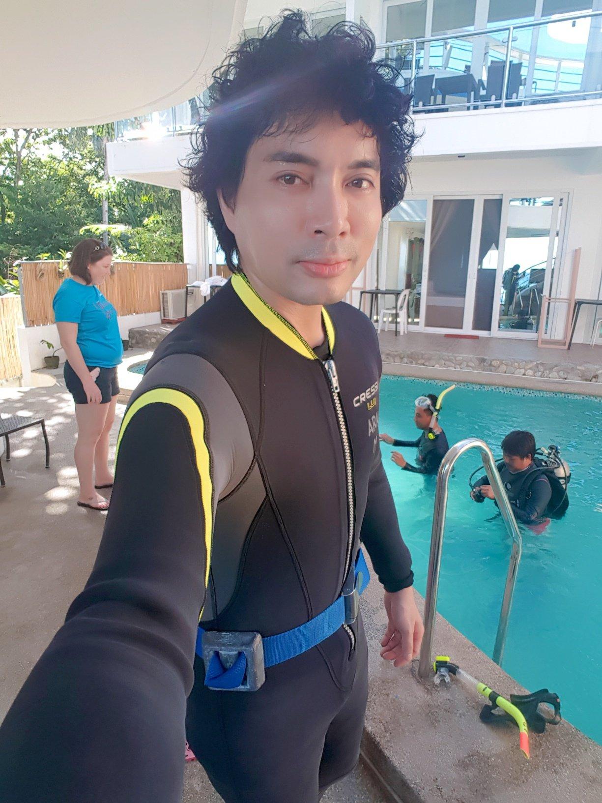 Me looking like dork in my wet suit. LOL.