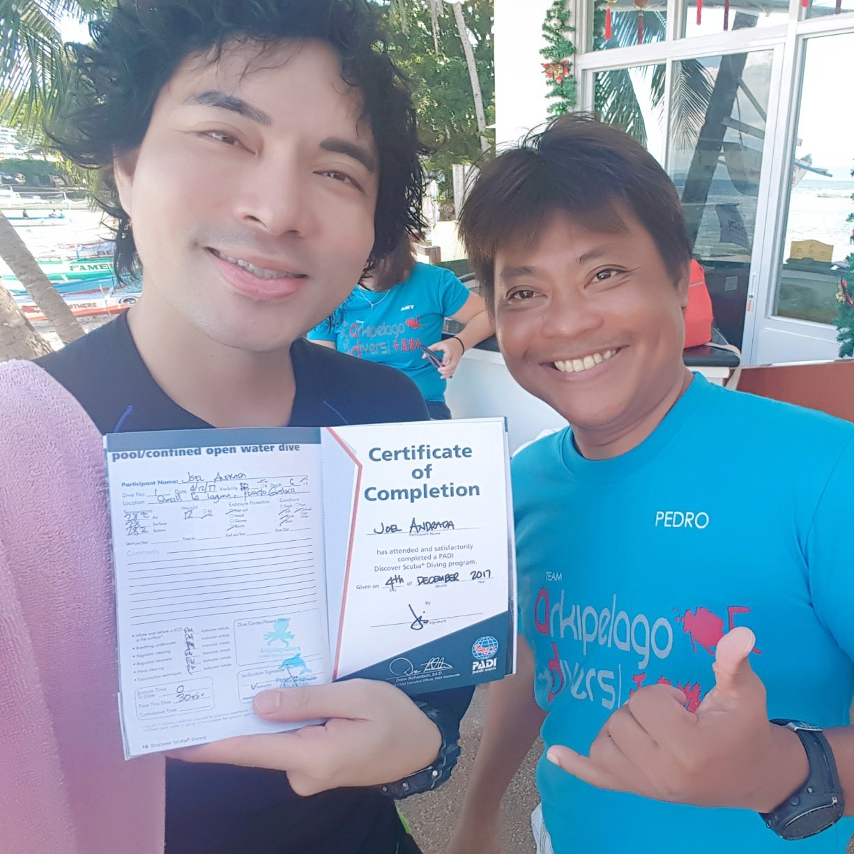 Yehey! I am ready to dive. Thanks, Pedro!