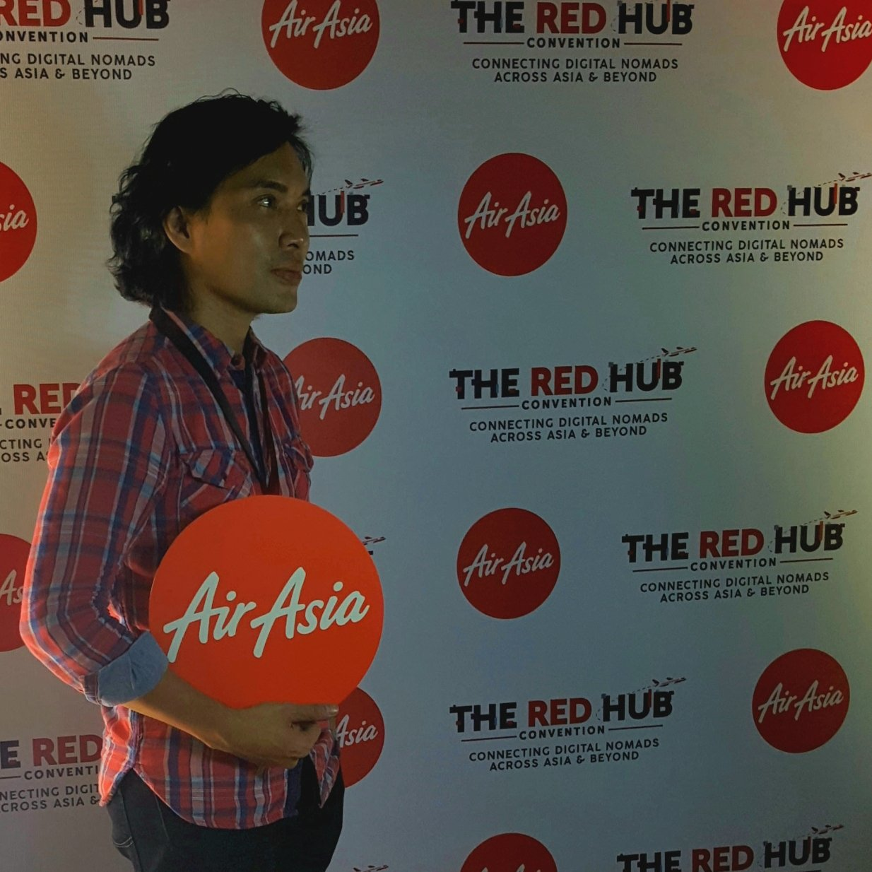Me attending Air Asia's The Red Hub Convention at The Axon, Green Sun, Makati City, Philippines