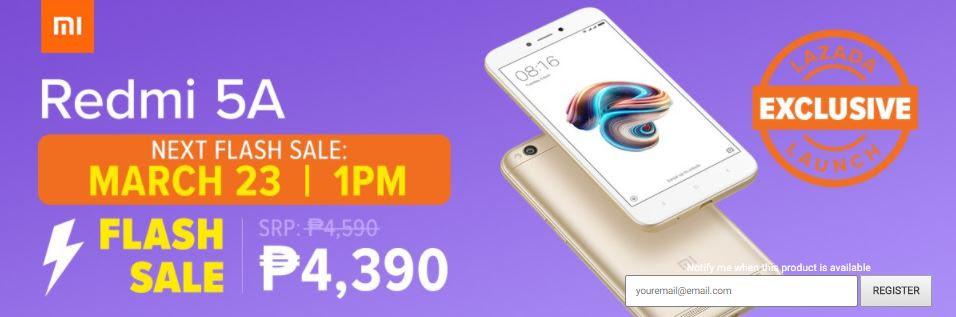 Redmi 5A Flash Sale March 23