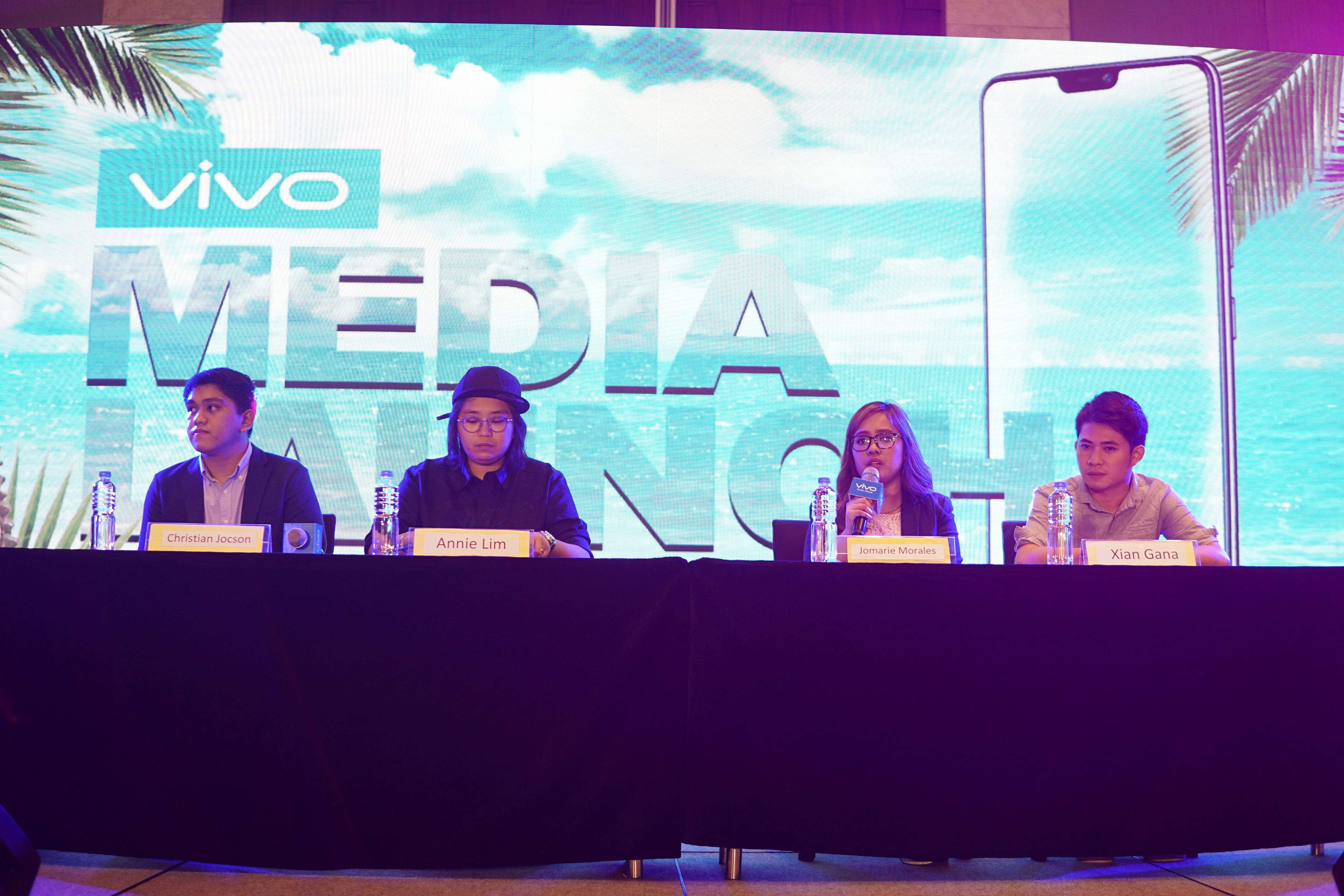 Lim, Morales, Jocson, and Xian Gana from Vivo then answered the media's questions during the Q&A.