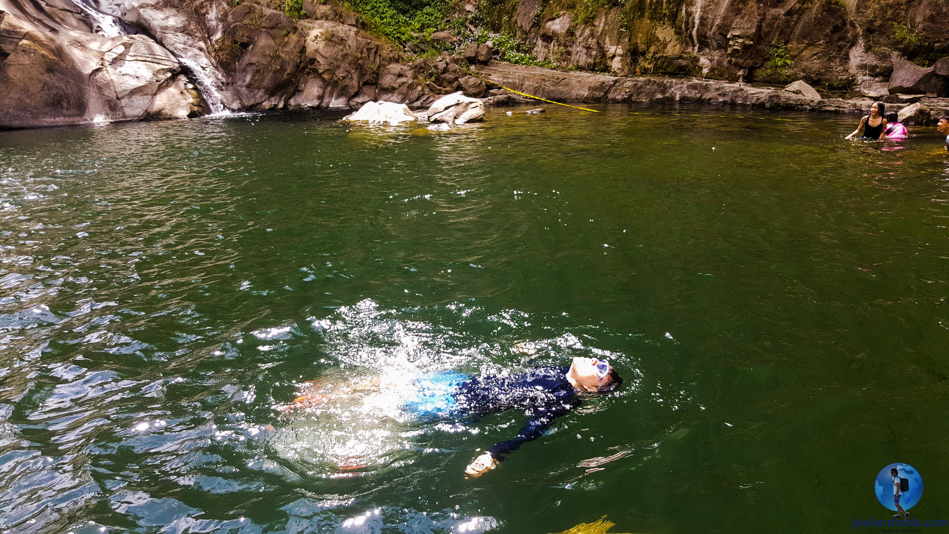 Swimming in Tangadan Falls, San Gabriel, La Union