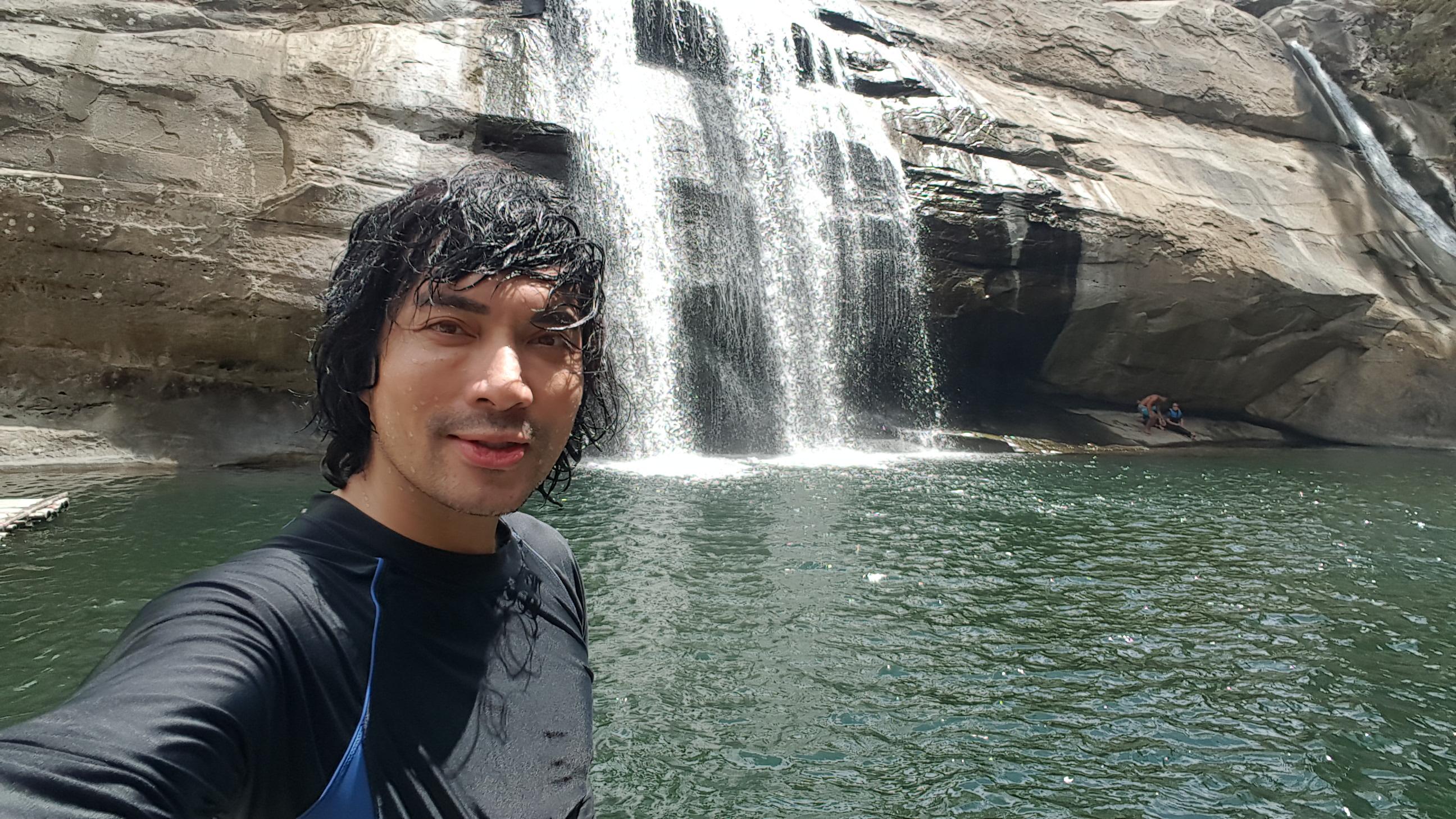 Joel Andrada in Tangadan Falls, San Gabriel, La Union