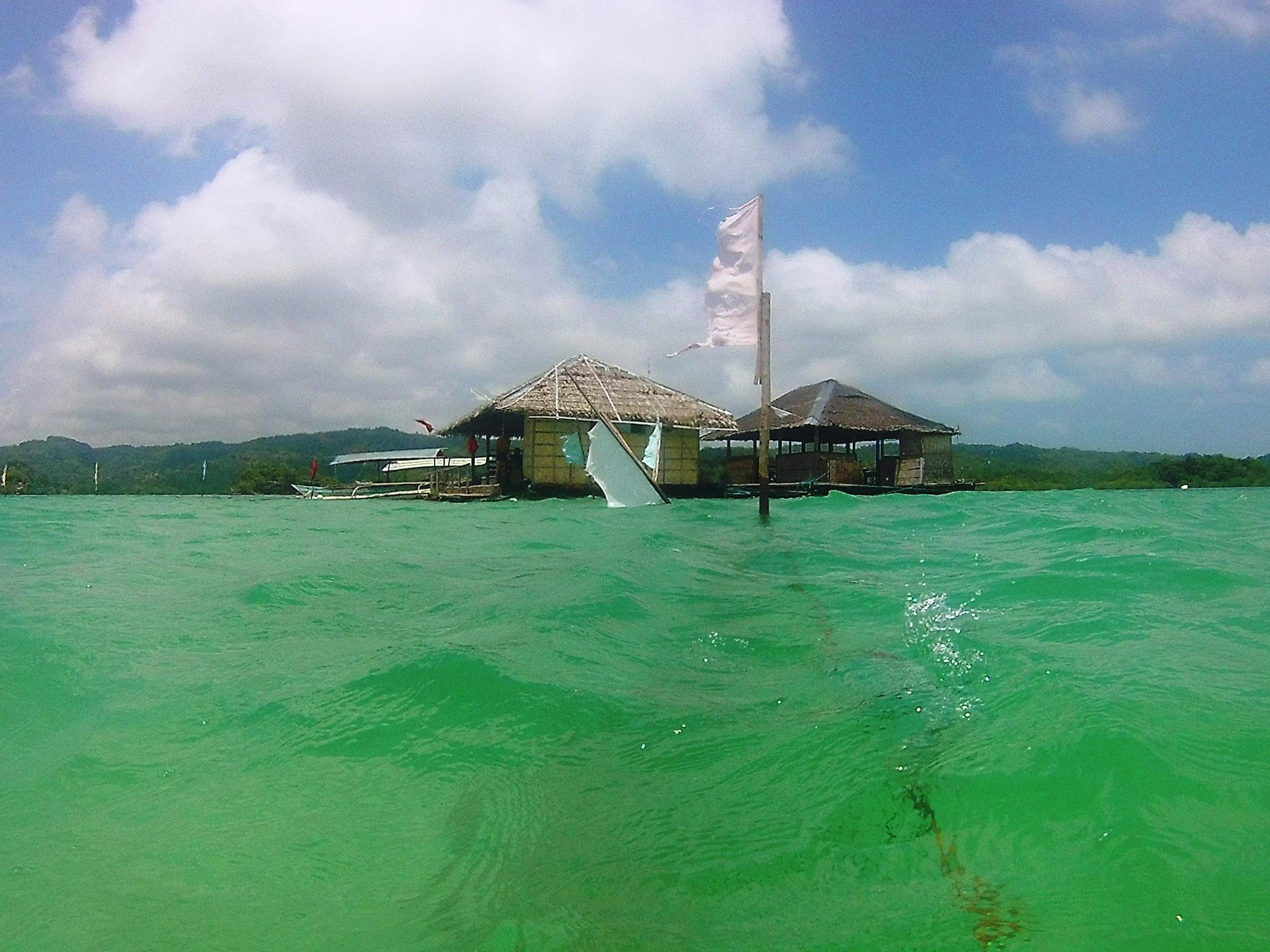 Floating Cottage Sandbar, Taklong Island National Marine Reserve, Nueva Valencia, Guimaras